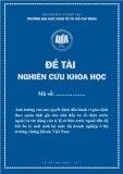 Đề tài khoa học: Ảnh hưởng của neo quyết định đến hành vi giao dịch theo quán tính giá của nhà đầu tư tổ chức nước ngoài và tác động của tỷ lệ sở hữu nước ngoài đến độ bất ổn tỷ suất sinh lợi mức độ doanh nghiệp ở thị trường chứng khoán Việt Nam