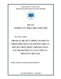Đề tài nghiên cứu khoa học: Mối quan hệ giữa thông tin phi tài chính trên báo cáo thường niên và kết quả hoạt động theo kế toán, giá thị trường của các công ty niêm yết Việt Nam