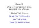 Bài giảng Vật lý đại cương: Chương 3 - PGS.TS. Đỗ Ngọc Uấn