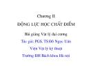 Bài giảng Vật lý đại cương: Chương 2 - PGS.TS. Đỗ Ngọc Uấn