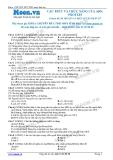 Chuyên đề LTĐH môn Sinh học: Cấu trúc và chức năng của ARN, protein