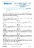Chuyên đề LTĐH môn Hóa học: Phương pháp lập CTPT của hóa học hữu cơ (Đề 1)