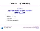 Bài giảng môn Lập trình mạng: Chương 10 - TS. Nguyễn Văn Hiệp