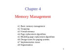 Lecture Operating System: Chapter 04 - University of Technology
