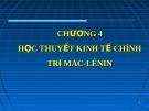Bài giảng Lịch sử các học thuyết kinh tế: Chương 4 (tt)