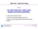 Bài giảng môn Lập trình mạng: Chương 7 - TS. Nguyễn Văn Hiệp