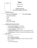 Mẫu CV bằng tiếng Anh cho nhân viên kinh doanh