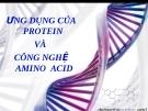 Bài giảng Ứng dung của protein và công nghệ amino acid