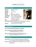 Mẫu CV ngành điện tử viễn thông