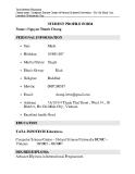 Mẫu CV Tiếng Anh ngành Điện tử viễn thông
