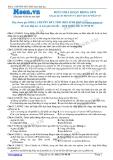 Chuyên đề LTĐH môn Sinh học: Điều hòa hoạt động gen