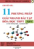 Chuyên đề 11 phương pháp giải nhanh bài tập Hóa học THPT (Tập 1)