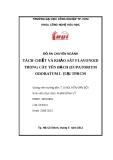 Đồ án chuyên ngành: Tách chiết và khảo sát flavonoid trong cây yên bạch (eupatorium odoratum L) tại TP.HCM
