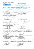 Chuyên đề LTĐH môn Vật lý: Tổng hợp dao động điều hòa bằng phương pháp vecto quay