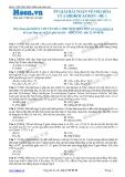Chuyên đề LTĐH môn Hóa học: Phương pháp giải bài toán về oxi hóa của hidrocacbon (Đề 1)
