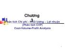 Bài giảng Chương III: Phân tích Chi phí khối lượng lợi nhuận