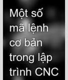 Các mã lệnh cơ bản trong lập trình CNC