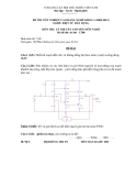 Đề thi & đáp án lý thuyết Điện tử dân dụng năm 2012 (Mã đề LT8)