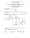 Đề thi & đáp án lý thuyết Điện tử dân dụng năm 2012 (Mã đề LT10)