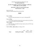 Đề thi & đáp án lý thuyết Điện tử công nghiệp năm 2012 (Mã đề LT50)