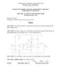 Đề thi & đáp án lý thuyết Điện tử dân dụng năm 2012 (Mã đề LT7)