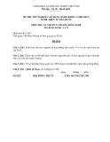 Đề thi & đáp án lý thuyết Điện tử dân dụng năm 2012 (Mã đề LT11)