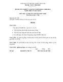 Đề thi & đáp án lý thuyết Điện tử dân dụng năm 2012 (Mã đề LT5)