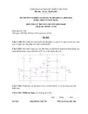 Đề thi & đáp án lý thuyết Điện tử dân dụng năm 2012 (Mã đề LT50)