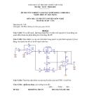 Đề thi & đáp án lý thuyết Điện tử dân dụng năm 2012 (Mã đề LT14)
