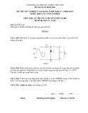 Đề thi & đáp án lý thuyết Điện tử công nghiệp năm 2012 (Mã đề LT1)