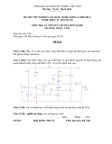 Đề thi & đáp án lý thuyết Điện tử dân dụng năm 2012 (Mã đề LT9)