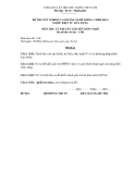 Đề thi & đáp án lý thuyết Điện tử dân dụng năm 2012 (Mã đề LT1)