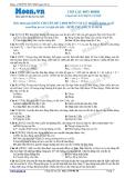 Chuyên đề LTĐH môn Vật lý: Con lắc đơn dao đông điều hòa