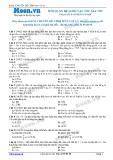 Chuyên đề LTĐH môn Vật lý: Mối quan hệ li độ vận tốc gia tốc