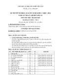 Đề thi thực hành Kỹ thuật chế biến món ăn năm 2012 (Mã đề LT15)