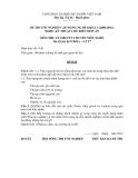 Đề thi & đáp án lý thuyết Kỹ thuật chế biến món ăn năm 2012 (Mã đề LT17)