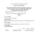 Đề thi & đáp án lý thuyết Kỹ thuật máy lạnh và điều hòa không khí năm 2012 (Mã đề LT5)