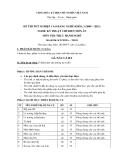 Đề thi thực hành Kỹ thuật chế biến món ăn năm 2012 (Mã đề LT1)