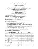 Đề thi thực hành Kỹ thuật chế biến món ăn năm 2012 (Mã đề LT11)