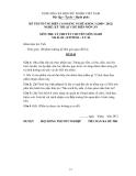 Đề thi & đáp án lý thuyết Kỹ thuật chế biến món ăn năm 2012 (Mã đề LT44)