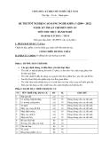 Đề thi thực hành Kỹ thuật chế biến món ăn năm 2012 (Mã đề LT10)