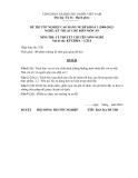 Đề thi & đáp án lý thuyết Kỹ thuật chế biến món ăn năm 2012 (Mã đề LT16)