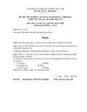 Đề thi & đáp án lý thuyết Kỹ thuật chế biến món ăn năm 2012 (Mã đề LT12)