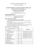 Đề thi thực hành Kỹ thuật chế biến món ăn năm 2012 (Mã đề LT2)