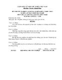 Đề thi & đáp án lý thuyết Lắp đặt thiết bị cơ khí năm 2012 (Mã đề LT6)
