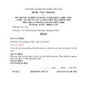 Đề thi & đáp án lý thuyết Kỹ thuật máy lạnh và điều hòa không khí năm 2012 (Mã đề LT7)