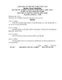 Đề thi & đáp án lý thuyết Lắp đặt thiết bị cơ khí năm 2012 (Mã đề LT8)