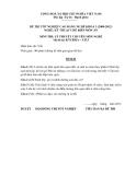 Đề thi & đáp án lý thuyết Kỹ thuật chế biến món ăn năm 2012 (Mã đề LT15)
