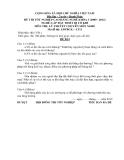 Đề thi & đáp án lý thuyết Lắp đặt thiết bị cơ khí năm 2012 (Mã đề LT11)