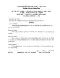 Đề thi & đáp án lý thuyết Lắp đặt thiết bị cơ khí năm 2012 (Mã đề LT1)